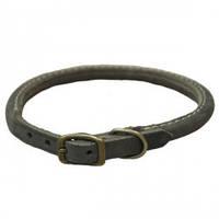Coastal Circle-T круглий кожаный ошейник для собак, серый, 1,6смХ50см
