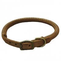 Coastal Circle-T круглий кожаный ошейник для собак, шоколад, 1,6смХ60см