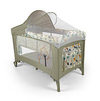 Детская кровать манеж Milly Mally Mirage Delux  Grey Bird Польша