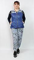 Стильный турецкий костюм 50-56р синий