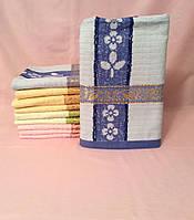 Золотая полоска 6 шт в уп. Размер 1.4х70 Банные полотенца дешевые оптом хорошее качество
