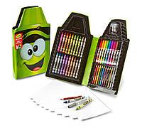 Crayola набор для детского творчества зеленый карандаш 50 предметов Tip Tool Kit, Electric Lime 50 Art Tools
