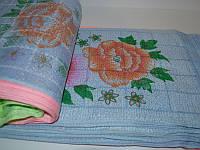 Кухонное полотенце 100шт в упаковке синтетика Размер 30х60 оптом большой опт самая дешевая цена 7км