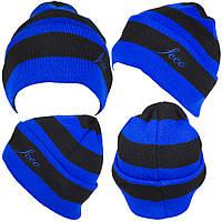 Футбольная шапка, сине-черная, ф5123