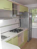 Кухни под заказ с фасадом из МДФ и алюминиевого профиля