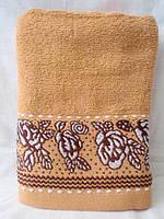 Лицевое махровое полотенце Розы внизу 6 шт в уп. Размер 0,5х0,9 - 100% хлопок