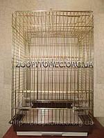 Клетка вольер для средних, крупных попугаев с открывным верхом.79*52*42 см.