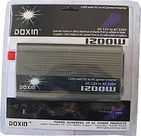 """Автомобильный инвертор с 12 В на 220 В (1200W) """"Doxin"""""""