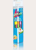 Карандаши цветные акварельные 24 цвета, 2-х сторонние, Marco Grip Rite, 9121-12CB, 903395