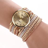 Женские часы с оригинальным ремешком Geneva Light Brown
