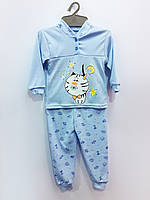 Трикотажная пижама Горошек (мальчик), интерлок