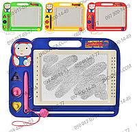 Доска для рисования 991, магнитная, удобная ручка, яркие цвета, развитие детского творчества, письма, 4 цвета