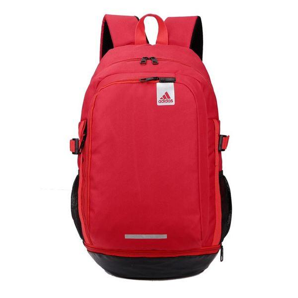 Рюкзак Adidas красный с белым логотипом (реплика)