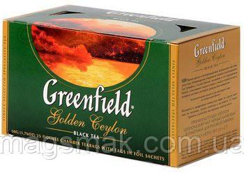 Чай Greenfield Golden Ceylon, 25 пакетов , фото 2