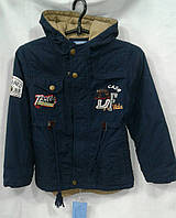 Куртка  демисезонная для мальчиков 4-8 лет,темно синяя