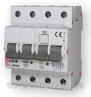 Диффер. автоматический выкл. KZS-4M 3p+N B 16/0,03 тип AC (6kA)