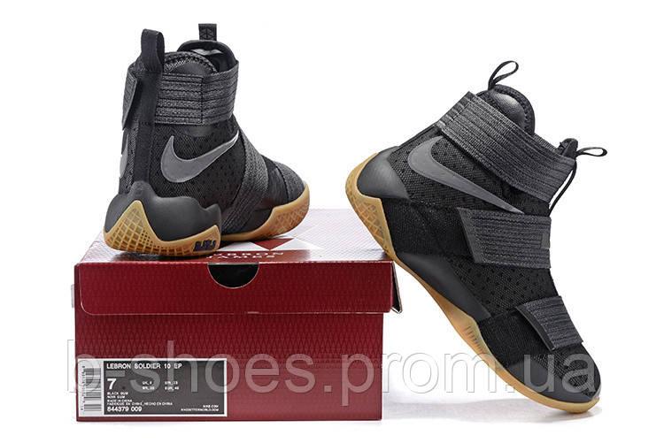 ... Детские баскетбольные кроссовки Nike LeBron Zoom Soldier 10 (Strive for  Greatness) 06a23393077c2