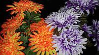 Пышный букет из хризантемы, разные цвета, выс. 68 см., 10 шт. в упаковке, 56.70 гр., фото 1