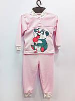 Трикотажная пижама Горошек (девочка), интерлок