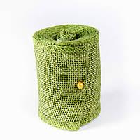 Лента из мешковины, цвет зеленый, 5см, длина 2 м