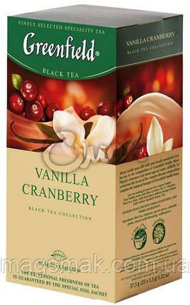 Чай Greenfield Cranberry Vanilla, 25 пакетов, фото 2