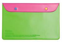 """Органайзер для документов """"Leo"""" (180*270) на кнопке L6123 розово-салатовый"""