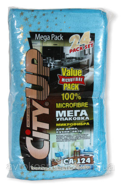 Набор салфеток из микрофибры Mega Pack 24 шт.