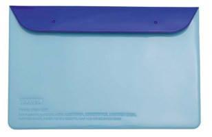 "Органайзер для документов ""Leo"" (180*270) на кнопке L6123 голубо-синий, фото 2"