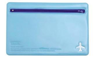 "Органайзер для документов ""Leo"" (180*270) на молнии L6121 голубо-синий, фото 2"