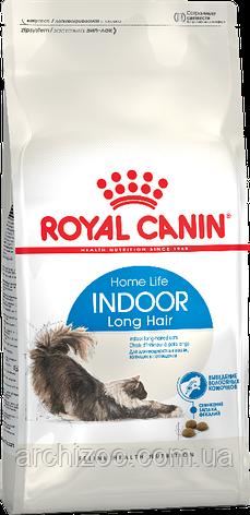 Royal Canin Indoor Long Hair 2кг (длинношерстные старше 1 года, живущие в помещении), фото 2