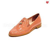 Женские туфли с перфорацией Basconi кожаные
