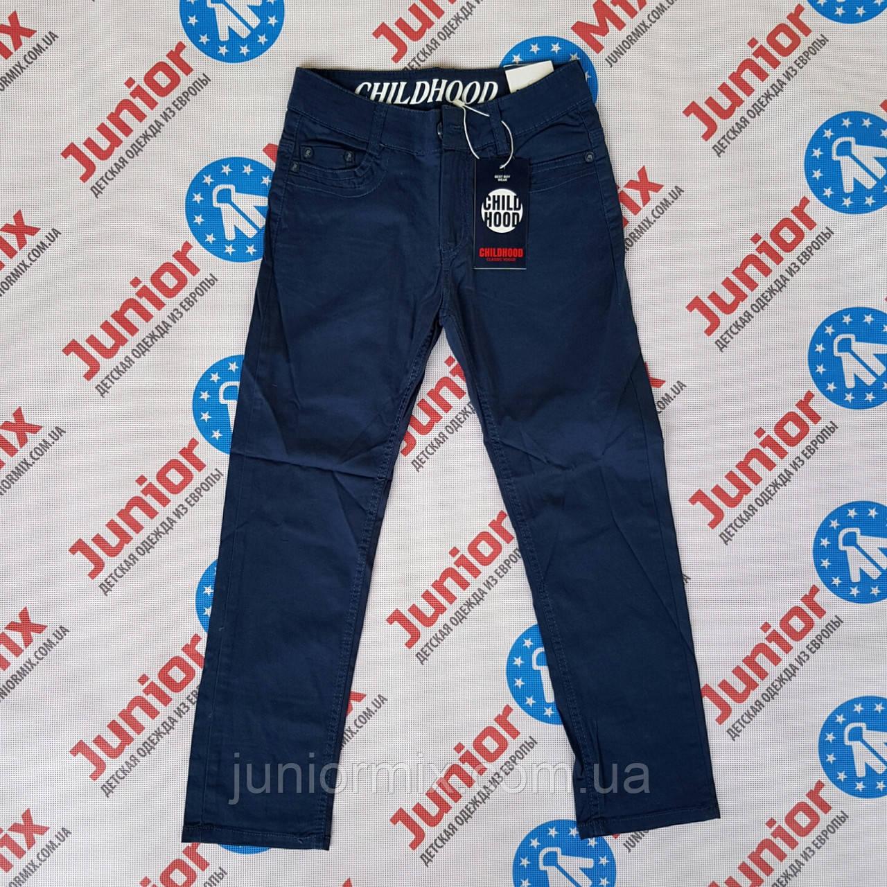 Котоновые брюки на мальчика синего цвета CHILDHOOD