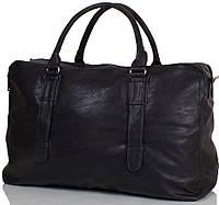 Удобная мужская дорожная сумка 40,4 л из искусственной кожи  ANNA&LI (АННА И ЛИ) TU13617-black, черный