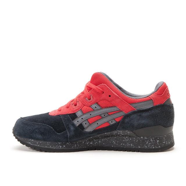 Мужские кроссовки Asics Gel Lyte III Black Red топ реплика