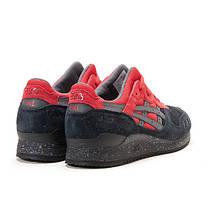 Мужские кроссовки Asics Gel Lyte III Black Red топ реплика, фото 3