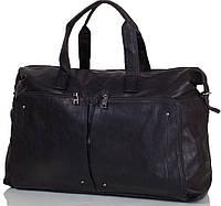 Качественная мужская дорожная сумка 40,5 л из искусственной кожи ANNA&LI (АННА И ЛИ) TU13616-black, черный