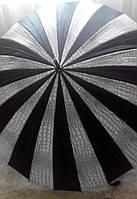 Зонт женский трость полуавтомат RAINBOW чехлом, разные цвета