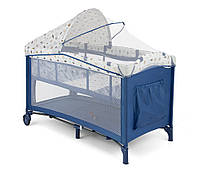 Детская кровать манеж Milly Mally Mirage Delux   Blue-White Польша