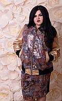 Модная юбка в пайетку  с 52 по 74 размер