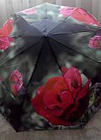 Зонт женский полуавтомат в три сложения FEELING RAIN, разные цвета