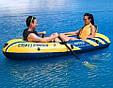 Двухместная лодка Intex 68367 Challenger 2 с веслами и насосом., фото 5