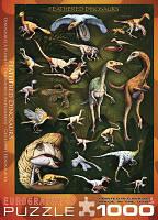 """Пазл """"Пернатые динозавры"""", 1000 элементов, EuroGraphics"""