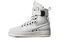 Мужские кроссовки Nike Air Force SF1 White (Найк аир форс высокие)