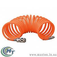 Шланг спиральный 5,5 х 8 мм  15 м, полиэтиленовый