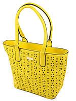 Желтая сумка стильная классика