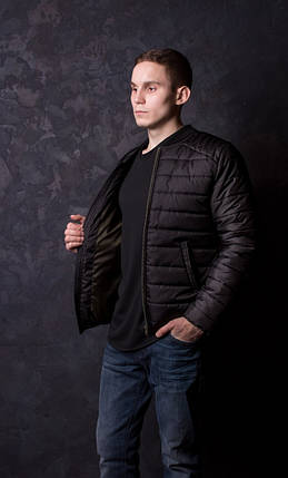 Мужская демисезонная куртка Dark Side черная, фото 2