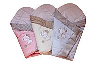 Конверт Одеяло для новорожденных на выписку весна лето осень 80х80см Собачка