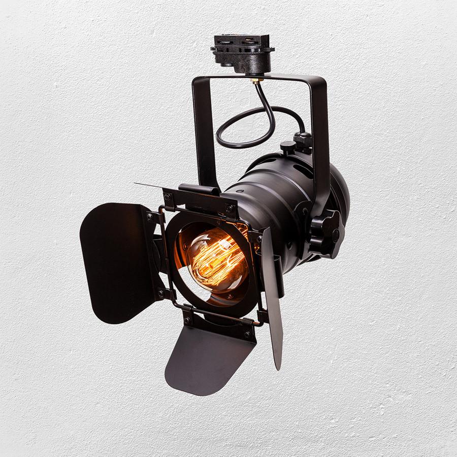 Прожектор на треке  в стиле лофт ( модель  52-19 BK трек )