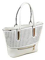 Женская сумка белая в дырочку