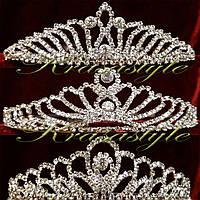 Богатая диадема-коронка(множество мелких страз)